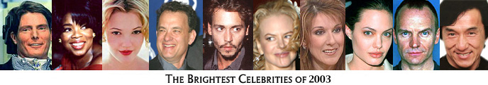 2003 Brightest Celebs
