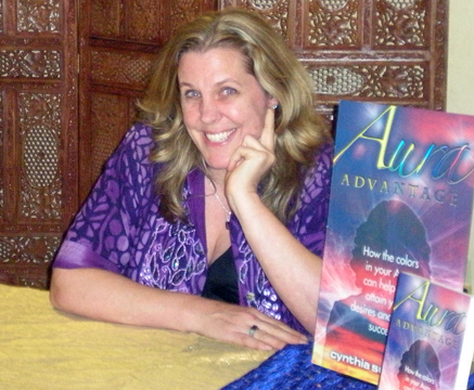 Cynthia Sue Larson with Aura Advantage at Bodhi Tree Bookstore