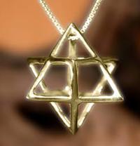 Gold Merkaba Pendant