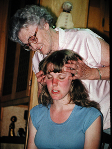 Cynthia with her grandmother
