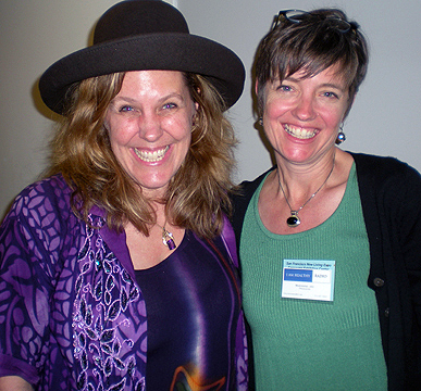 Cynthia Sue Larson at New Living Expo in San Francisco with Marianne Jas
